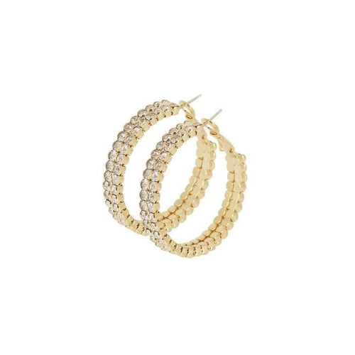 boucle d'oreille creole strass