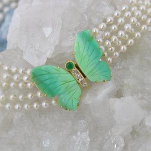 collier perle papillon
