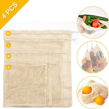 Load image into Gallery viewer, Reusable Cotton Mesh Bags *