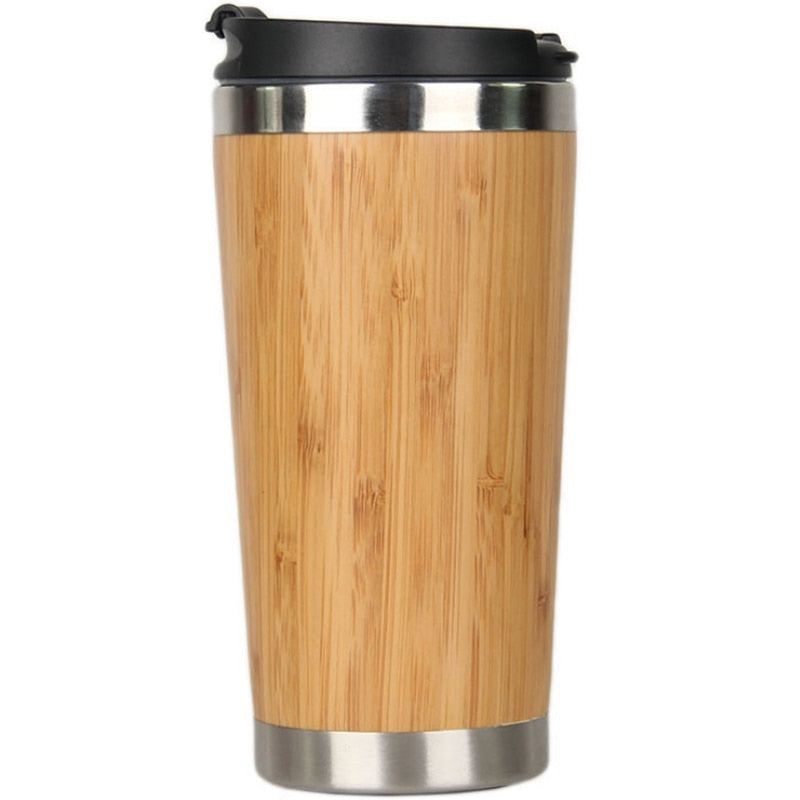 Reusable Bamboo Stainless Steel Travel Mug *