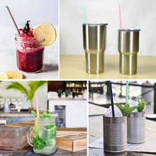 Load image into Gallery viewer, Reusable Silicone Bent Straw (multi pk) *
