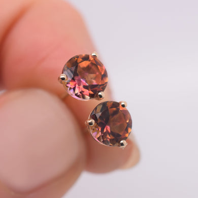 Anastasia Topaz Earrings made using solid 14kt gold