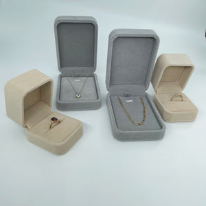 Collective & Co. velvet jewellery boxes