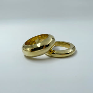 Meraki thick brass rings sold online by Collective & Co. online jewellery store