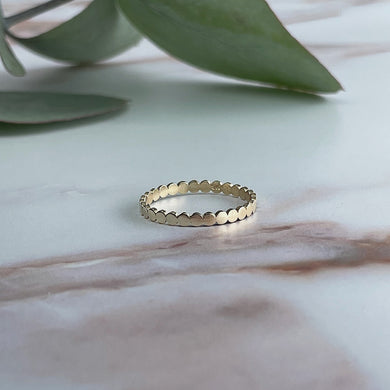 Collective & Co. 9kt Gold Circular Stacking Band