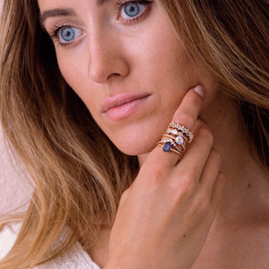 La Kaiser jewelry. Solid gold, diamonds and precious gemstone rings