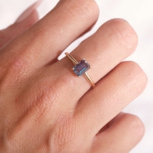 Load image into Gallery viewer, La Kaiser Baguette Alexandrite set in solid 14kt gold