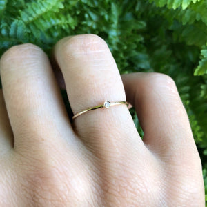 Solo Diamond Solid 14kt gold ring. Sold online in South Africa by Collective & Co.