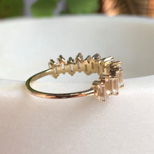 Load image into Gallery viewer, 10kt solid gold & topaz bridge ring by La Kaiser jewelry. Sold exclusively in South Africa by Collective & Co. online jewellery store