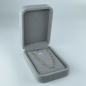 Grey velvet necklace box from Collective & Co.