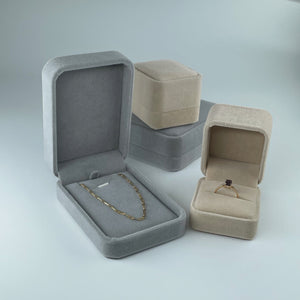 Collective & Co. collection of velvet jewellery boxes