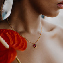 Load image into Gallery viewer, Garnet necklace on model