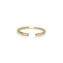 Load image into Gallery viewer, 14kt Gold Diamond Talon Ring