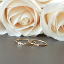 Load image into Gallery viewer, Solid gold & diamond stacking rings. Timeless elegance by La Kaiser Jewelry