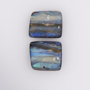 Australian Natural Queensland Boulder Opal Gemstone Pair - ERO1019518
