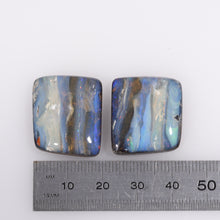 Load image into Gallery viewer, Australian Natural Queensland Boulder Opal Gemstone Pair - ERO1019518