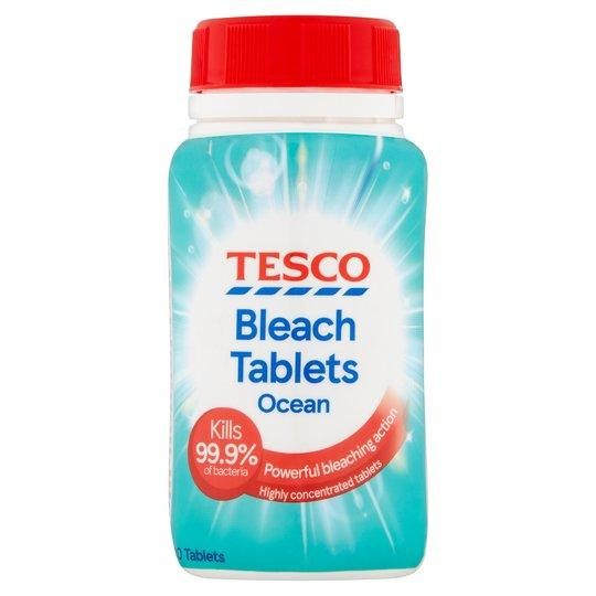 【🇬🇧英國直送】TESCO 海洋漂白片 (40片) Ocean Bleach Tablets X40 160G - Avo Living 森悠原舍