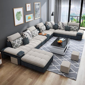 Customized high quality living room furniture living room sofa set fabric sofa