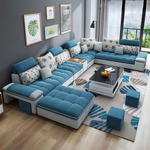 Load image into Gallery viewer, Customized high quality living room furniture living room sofa set fabric sofa