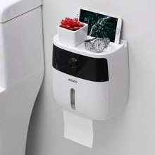 Load image into Gallery viewer, Waterproof Toilet Paper Holder Plastic Paper Towels Holder