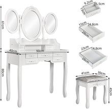 Load image into Gallery viewer, Europe Style Bedroom Dressing Table
