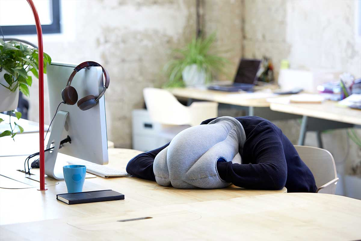Sleep at work with Original - Ostrichpillow Magazine