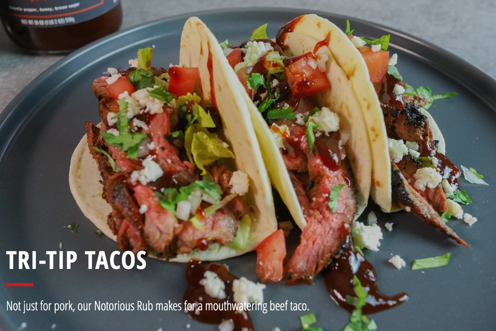 Spicy Tri-Tip Tacos with BBQ Sauce