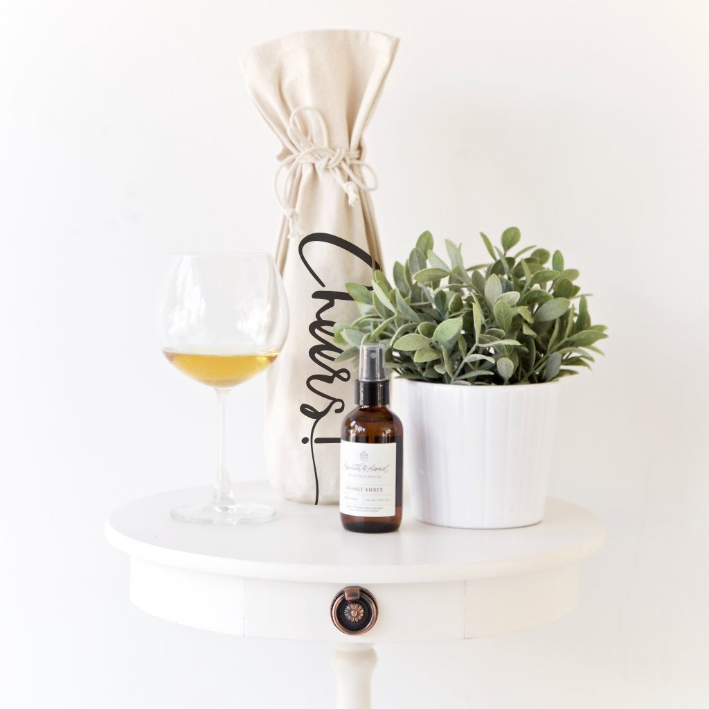 CHEERS! Cotton Canvas Wine Bag