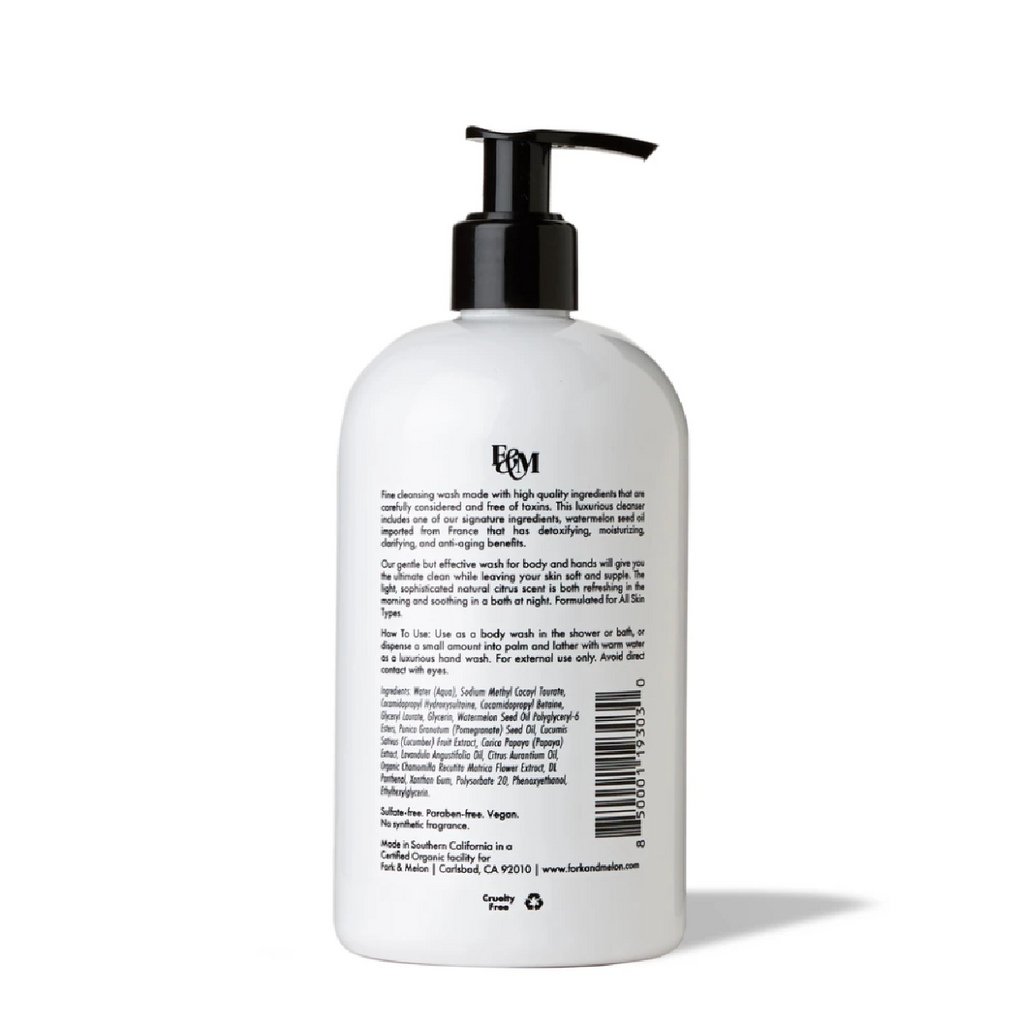 FINE CLEANSING WASH: For Body & Hands
