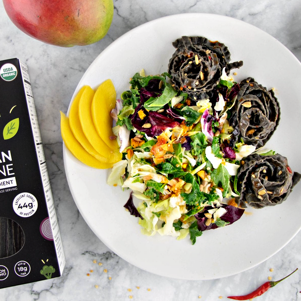 BLACK BEAN FETTUCCINE: High Protein, Low Carb, Organic Pasta