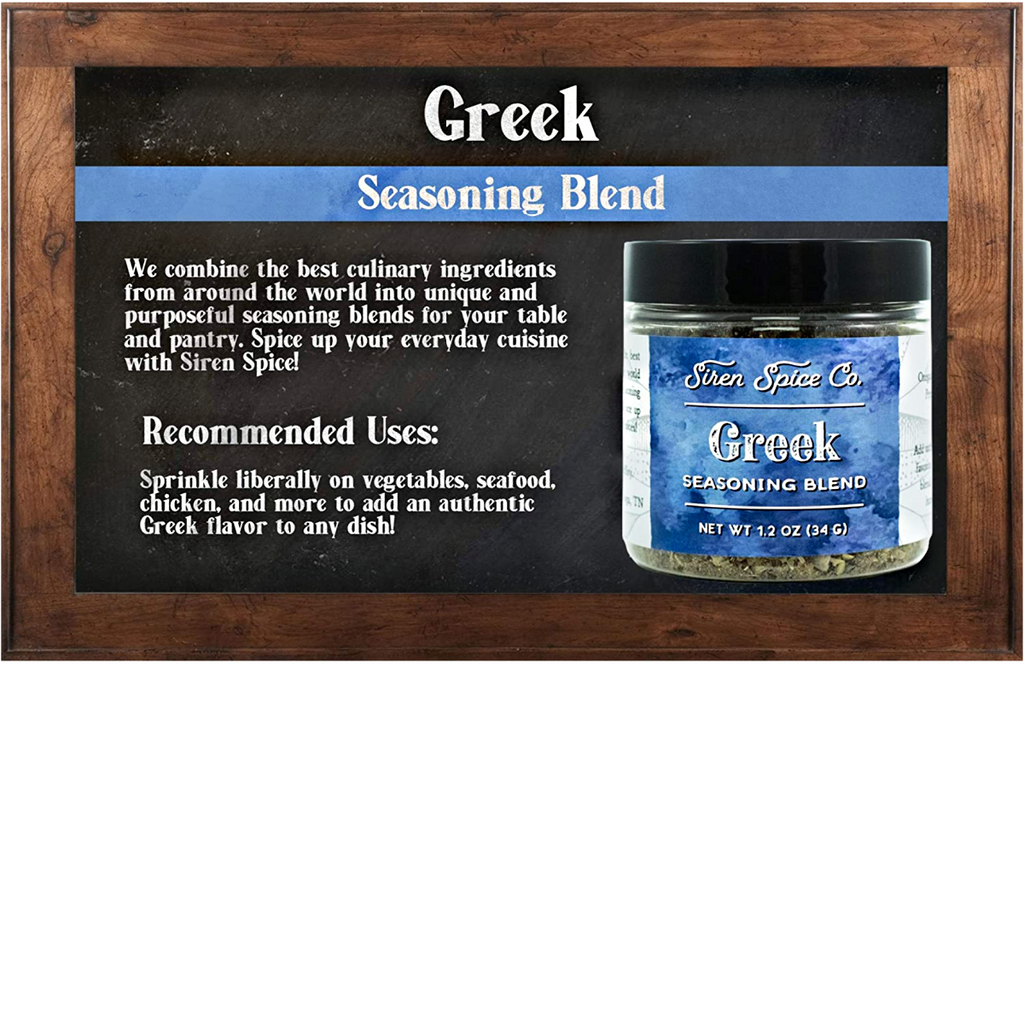 GREEK: Salt Free Seasoning Blend