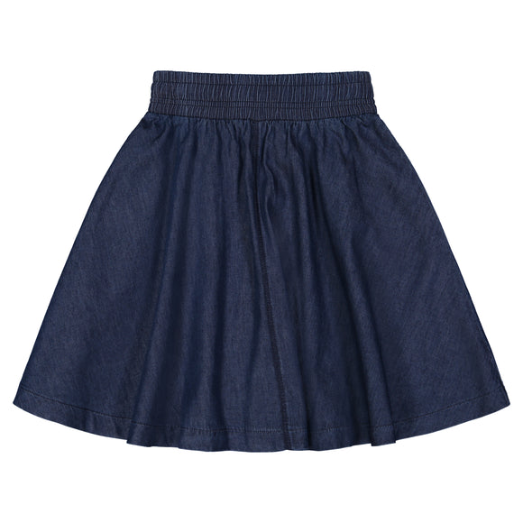 DENIM Circle Skirt Single Stitch - Dark Denim