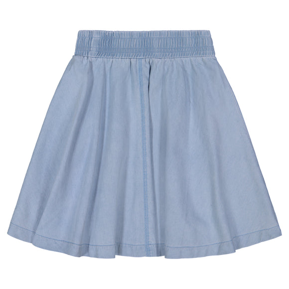 DENIM Circle Skirt Single Stitch - Light Denim