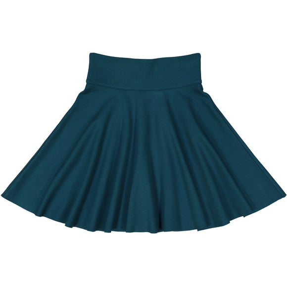 Ponte Circle Skirt - TEAL - FINAL SALE