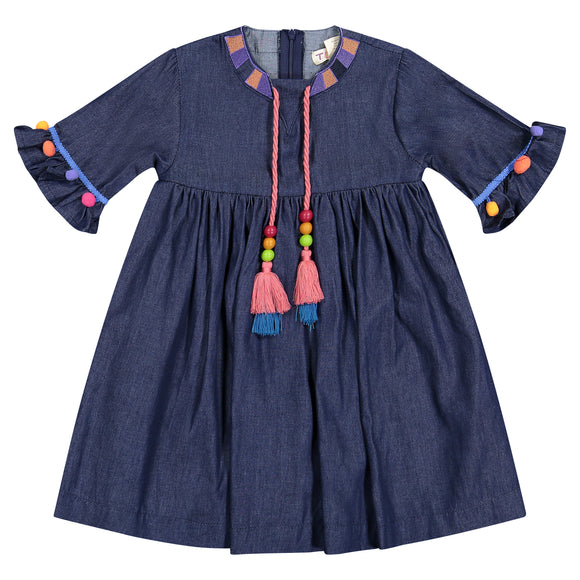 DENIM BOHEMIAN Baby Doll Dress