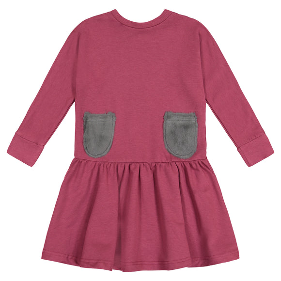 SOLID Oversized Dolman Sleeve Dress - ROSE