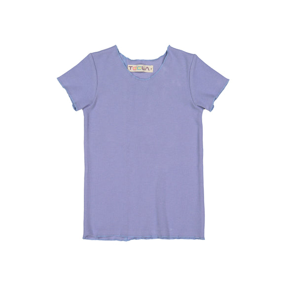 RIB Basic BOY/GIRL Tshirt - Periwinkle