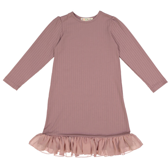 RIB Nightgown - Mauve - FINAL SALE
