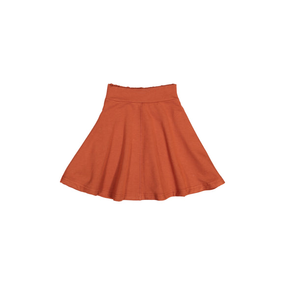 KNIT Circle Skirt - Rust