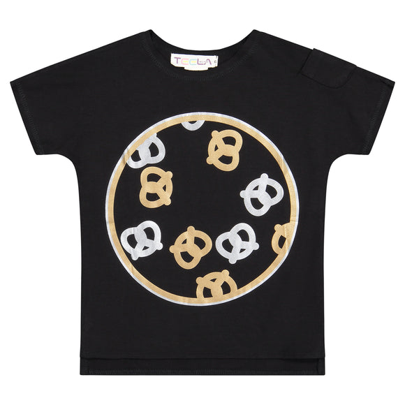 PRETZEL Boy's Tshirt - Black - FINAL SALE