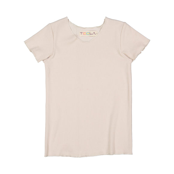 RIB Basic BOY/GIRL Tshirt - Cream
