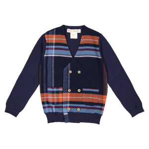 Cardigan PLAID - runs small size up - FINAL SALE