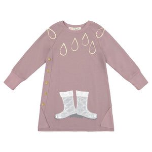 RAIN BOOT Raglan Triangle Rib Patch Dress