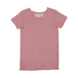 RIB Basic BOY/GIRL Tshirt - Mauve
