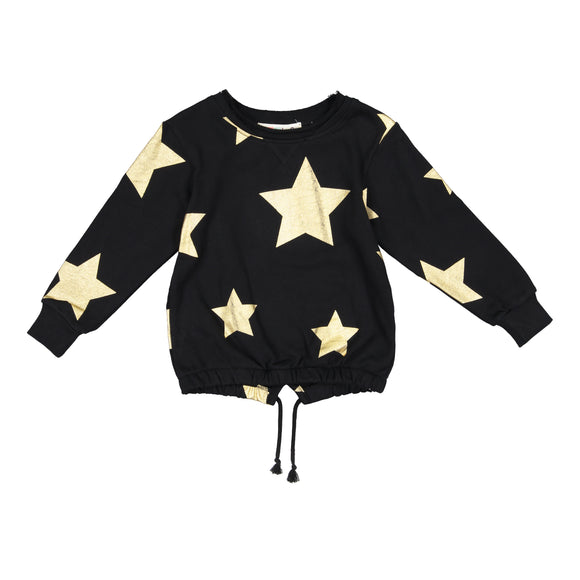 LENO Drawstring Star Top