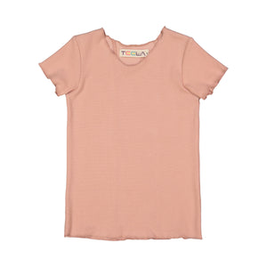 RIB Basic BOY/GIRL Tshirt - Blush