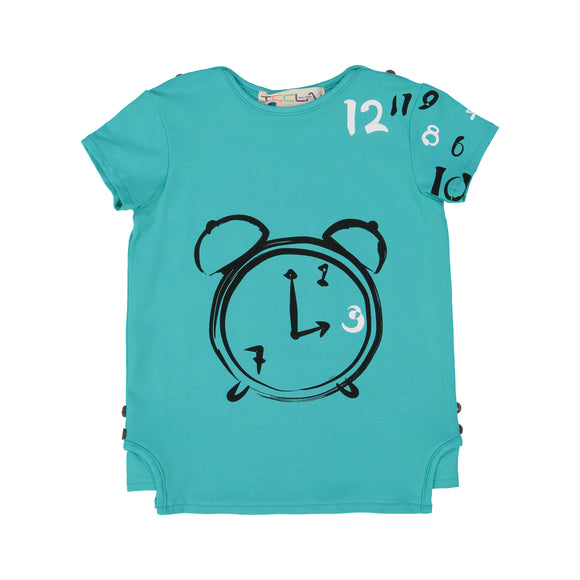 CLOCK Boy's Tshirt - Robin Blue