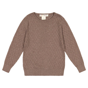 Cable Knit Boy's Top - Toffee