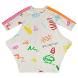 TRIANGLE BUBBLE Marker Print Dress