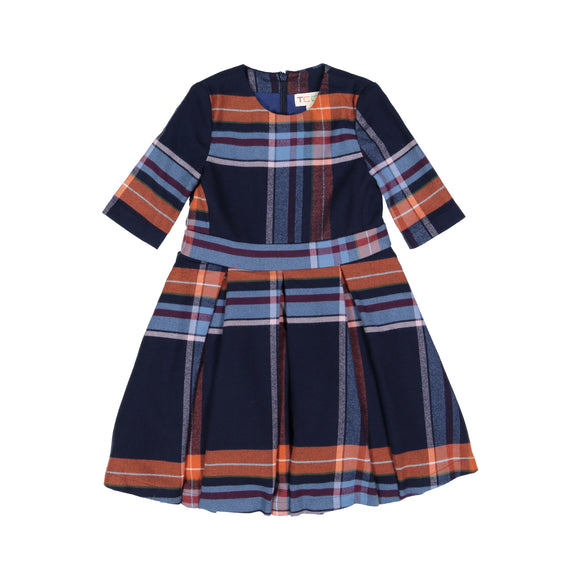 EMA Plaid Box Pleat Dress - FINAL SALE